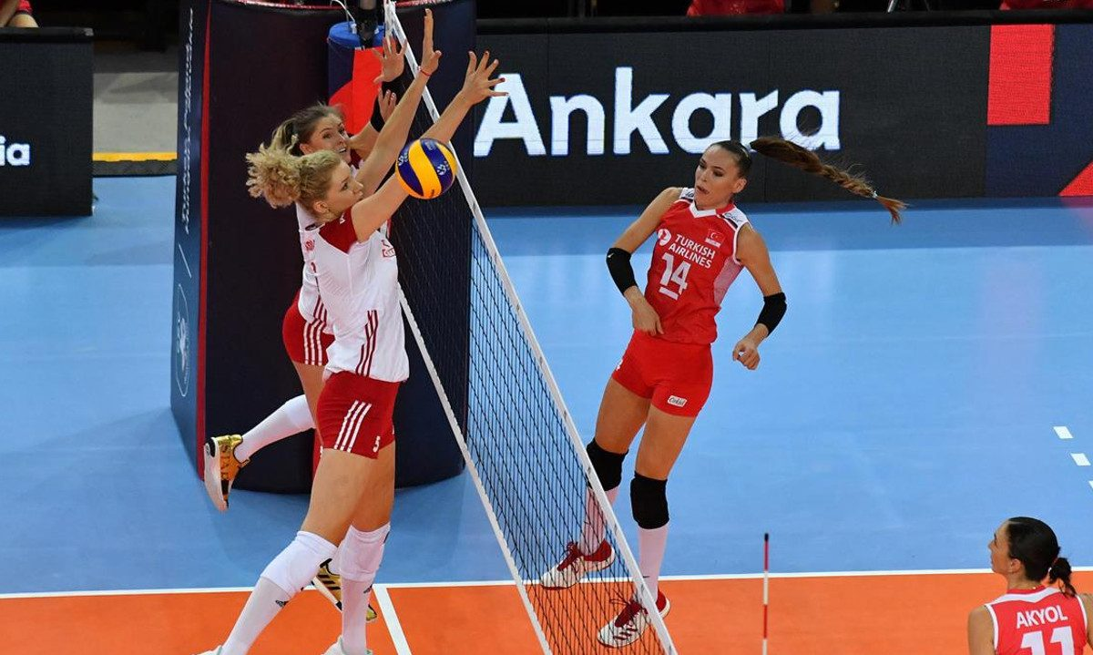 Lentopallon naisten EM-kisat 2019: Loppuotteluun Serbia ja Turkki